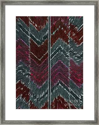Chevron Effect  Framed Print by Norma Appleton
