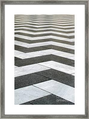 Chevron  Framed Print by Linda Woods