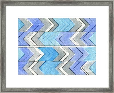 Chevron Sensation Framed Print by Norma Appleton