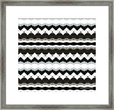 Chevron Style Framed Print by Marsha Heiken