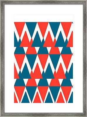 Chevron Triangle. Framed Print by Saddam Hussein