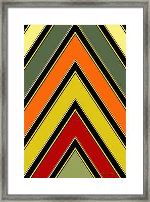Chevrons With Color - Vertical Framed Print by Chuck Staley