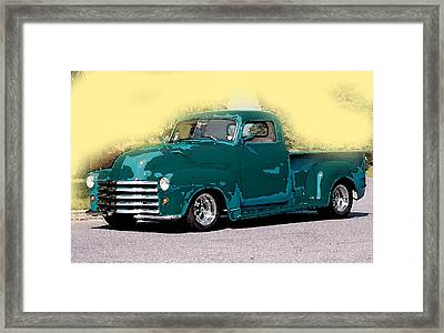 Framed Print featuring the painting Chevy Azure by Gertrude Palmer