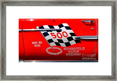 Chevy Bel Air Indianapolis Pace Car Framed Print