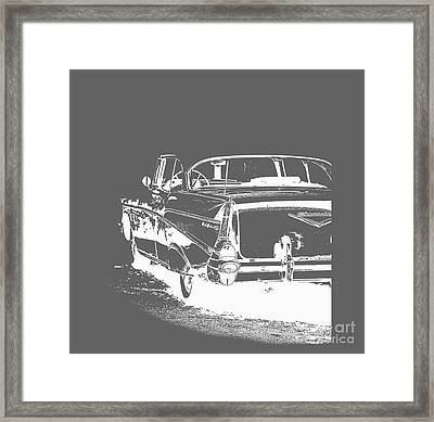 Chevy Belair Tee Framed Print