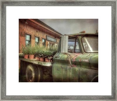 Framed Print featuring the photograph Chevy C 30 Pickup Truck - Colby Farm by Joann Vitali