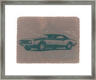 Chevy Camaro Framed Print by Naxart Studio