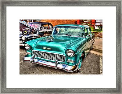 Chevy Cruising 55 Framed Print by Dale R Carlson