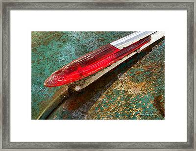 Chevy Deluxe Hood Ornament Framed Print