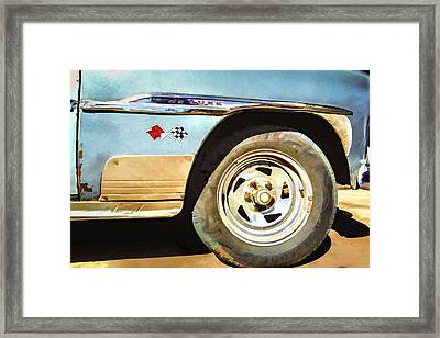 Framed Print featuring the photograph Chevy Deluxe by Lou Novick