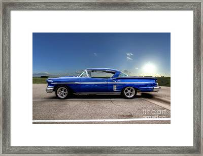 Chevy Impala Framed Print by Joel Witmeyer