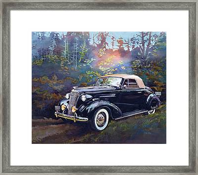 Chevy In The Woods Framed Print by Mike Hill