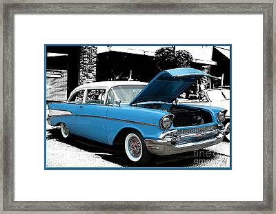 Framed Print featuring the photograph Chevy Love by Victoria Harrington