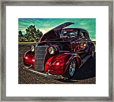 Chevy On The Run Framed Print by Thom Zehrfeld
