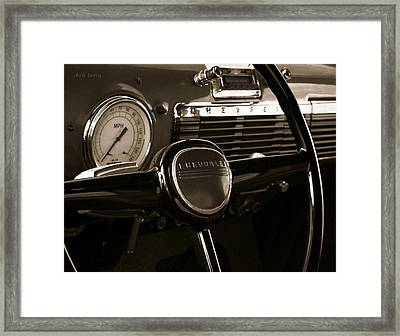 Chevy Pick Up Steering Wheel Framed Print by Chris Berry