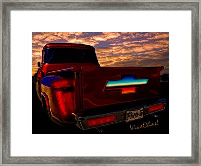 Chevy Pu Five-5 Too Pretty To Drive Framed Print
