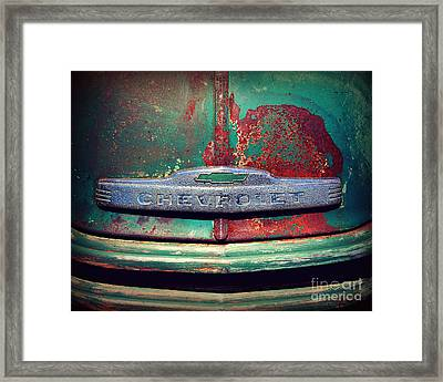 Chevy Rust Framed Print by Perry Webster