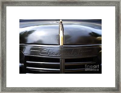 Chevy Street Rod Framed Print by Linda Lees