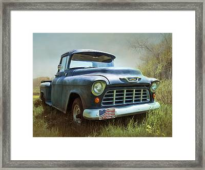 Framed Print featuring the photograph Chevy Truck by Robin-Lee Vieira