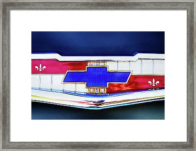 Chevy's Fifties Bowtie Framed Print