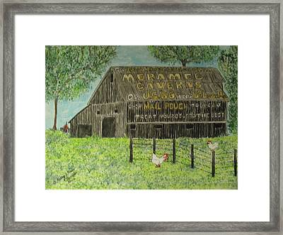 Framed Print featuring the painting Chew Mail Pouch Barn by Kathy Marrs Chandler
