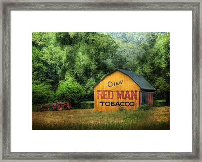 Chew Red Man Framed Print