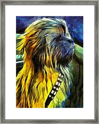 Chewbacca Dog - Pa Framed Print by Leonardo Digenio