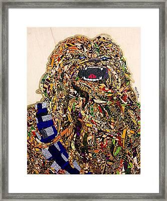 Chewbacca Star Wars Awakens Afrofuturist Collection Framed Print