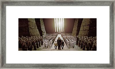 Chewbacca's March To Disappointment Framed Print by Kurt Ramschissel