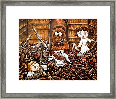 Chewie Get Off My Me You Big Furry Oaf Framed Print by Al  Molina