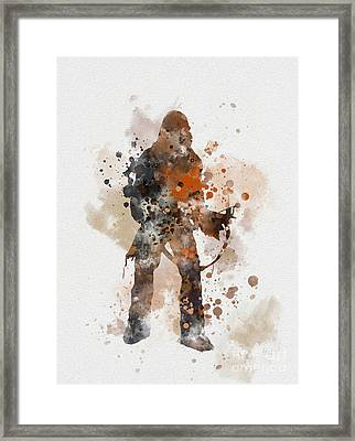 Chewie Framed Print by Rebecca Jenkins