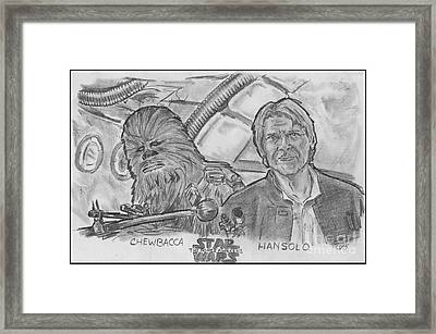 Chewie Were Home Framed Print by Chris  DelVecchio