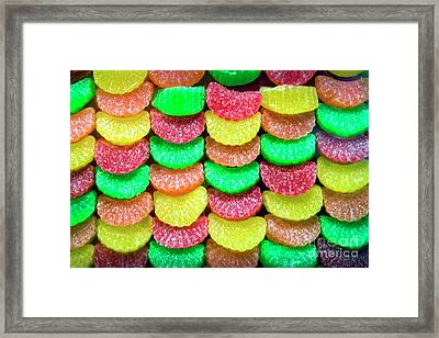 Chewy Fruit Flavored Candy Framed Print by David Zanzinger