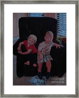 Cheyenne And Kai Framed Print by Michael Nowak
