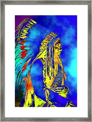 Cheyenne Chief Framed Print by Ben Freeman