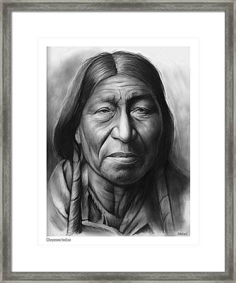 Cheyenne Framed Print by Greg Joens