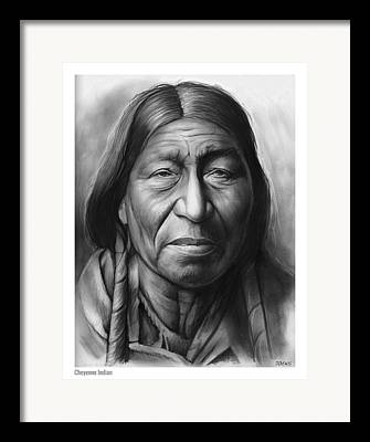 Tribes Drawings Framed Prints