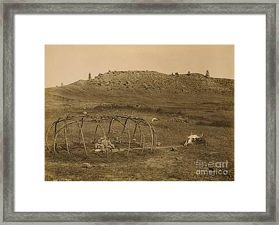 Cheyenne Indian Sweat Lodge Frame, 1910 Framed Print by Science Source