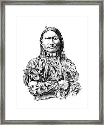 Cheyenne Man Framed Print
