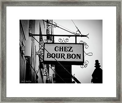 Chez Bourbon  Framed Print by Shelly Stallings