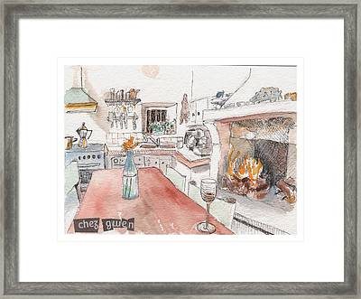 Framed Print featuring the painting Chez Gwen by Tilly Strauss