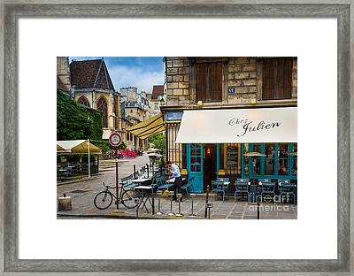 Chez Julien Framed Print