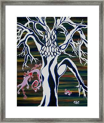 Framed Print featuring the painting chi by Carolyn Cable