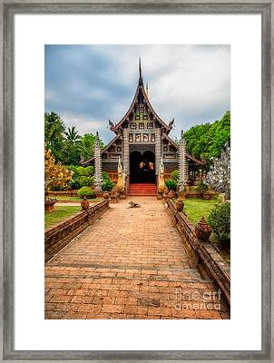 Chiang Mai Temple Framed Print