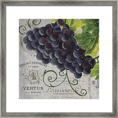 Vins De Champagne 2 Framed Print by Debbie DeWitt