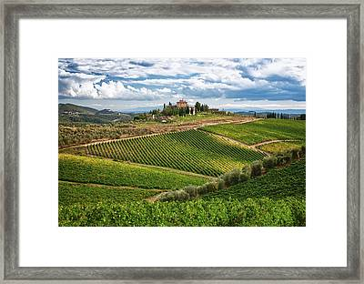 Chianti Landscape Framed Print by Eggers Photography