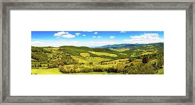 Chianti Rolling Hillside Panorama Framed Print