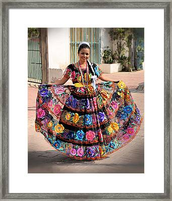 Chiapaneca Dress Framed Print