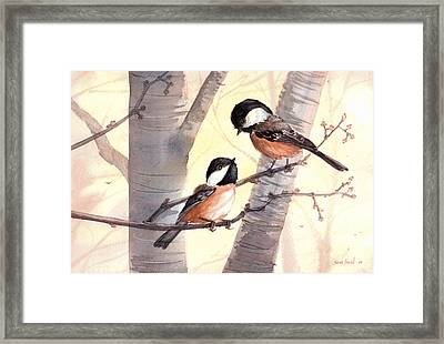 Chic Chat Framed Print by Sean Seal