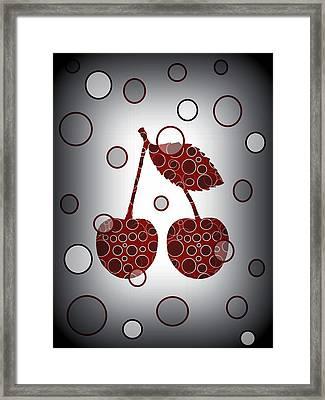 Chic Cherries Framed Print